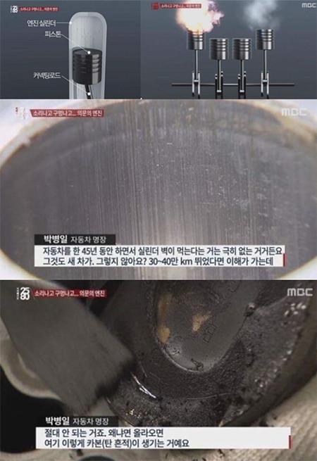 지난 2016년 MBC 시사매거진 2580프로그램에서 보도된 세타II 엔진의 결함