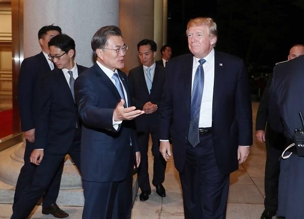 문재인 대통령과 도널드 트럼프 미국 대통령. (사진=newsis)