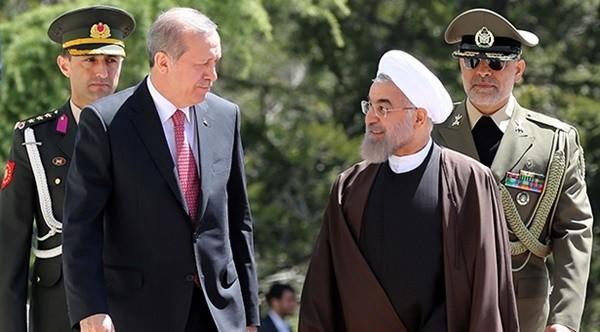 ▲ 레제프 타이이프 에르도안 터키 대통령과 이란 대통령 로하니